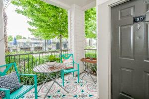 element student living front door