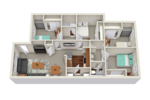 element student living 4x2 floor plan